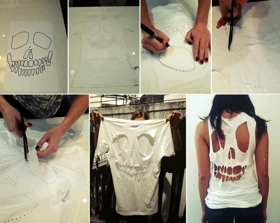 Diy skeleton cut out shirt fabulously disheveled for Minimalismus kleidung