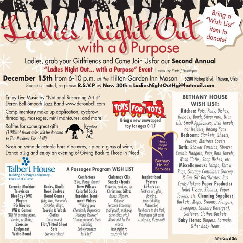 Ladies Night Out for a Purpose Invite 2012