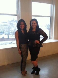 Leslie Marlin and I Lena Erizak Handbags showroom NYFW Feb 2013