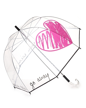 Felix Rey Rain Rain Go Away Clear Umbrella