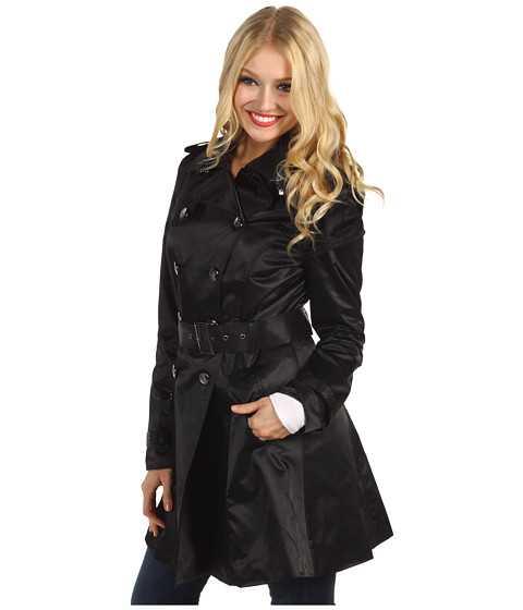 Jessica Simpson - Skirted Satin Rain Trench Coat