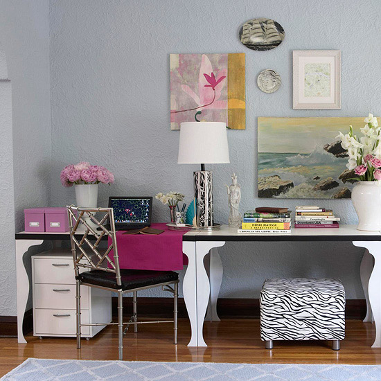 fabulously disheveled chic home offices