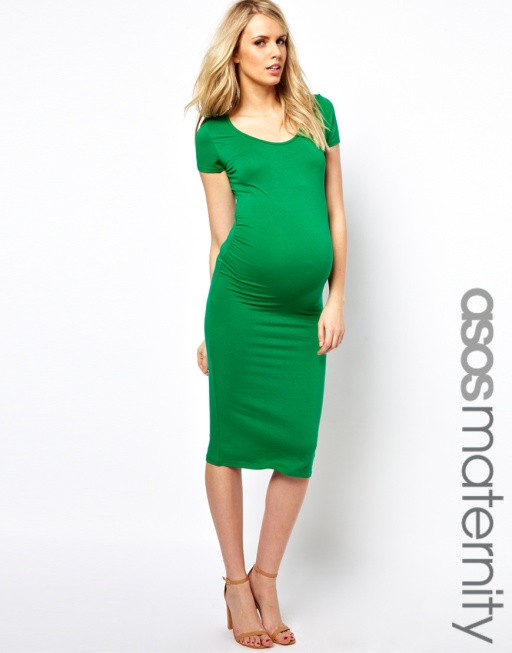 ASOS maternity midi dress with cap sleeve