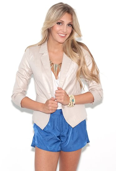 Costa Blanca metallic two button blazer