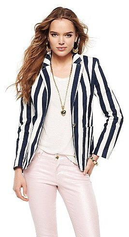 Juicy Couture awning stripe blazer