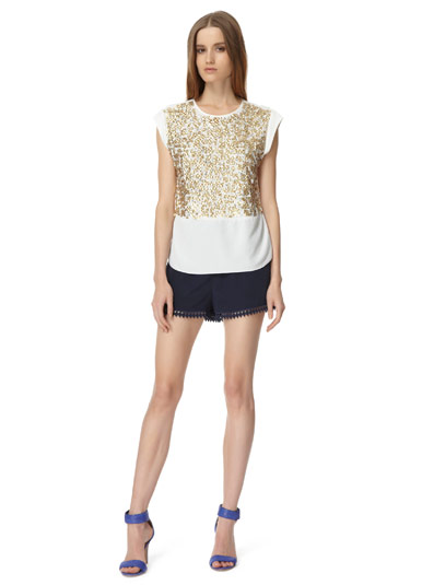 Rebecca Taylor Sequin Tee
