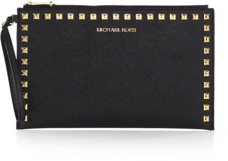 MICHAEL MICHAEL KORS Large Studded Zip Wristlet