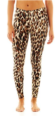 Animal Print Knit Leggings