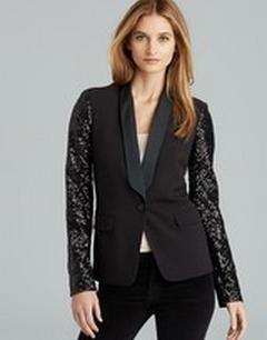 MICHAEL Michael Kors Sequin Sleeve Tuxedo Blazer