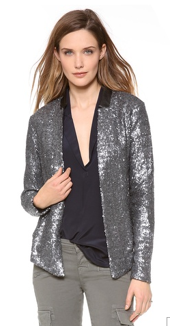 Ella Moss Sheena Sequin Blazer