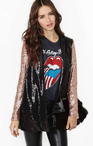 Nasty Gal Glam Rock Sequin Blazer