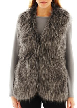 Nicole by Nicole Miller Faux Fur Vest
