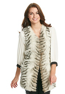 Romeo & Juliet Couture Faux Fur Vest