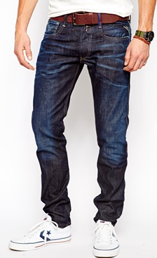 Replay Slim Fit Jeans Barcelona FC Collection