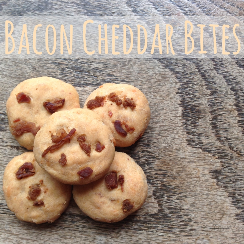 Bacon Cheddar Bites dog treats