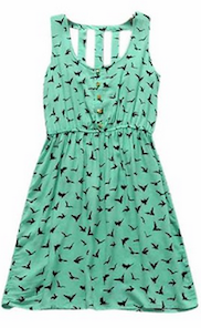 Amoin Eagle Pattern Loose-fitting Summer Dress