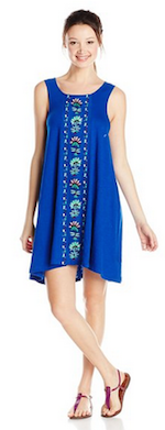 Roxy Junior's Sparks Fly Embroidered Jersey Dress
