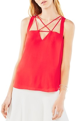 BCBGMAXAZRIA Raelyn Strap Top